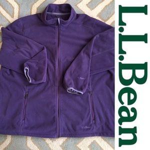 LLBEAN polartec fleece jacket purple 2X